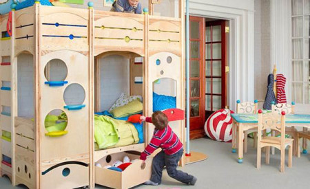 صور غرف اطفال صغيرة بسريرين , تصاميم غرف اطفال رائعه