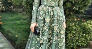 صور فساتين للمحجبات 2019 , تالقي و تجملي باجمل الفساتين للمحجبات2019