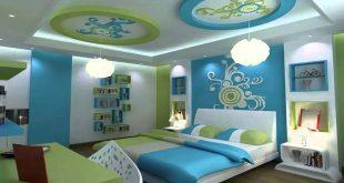 صورة ديكورات اسقف غرف نوم اطفال , يجب ان يكون طفلك سعيد بغرف النوم له