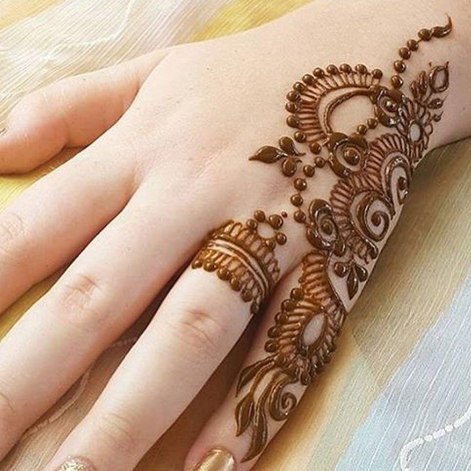 صور رسومات حنة لليدين , شاهد اروع لروسومات الحنة في اليد في غاية من الجمال