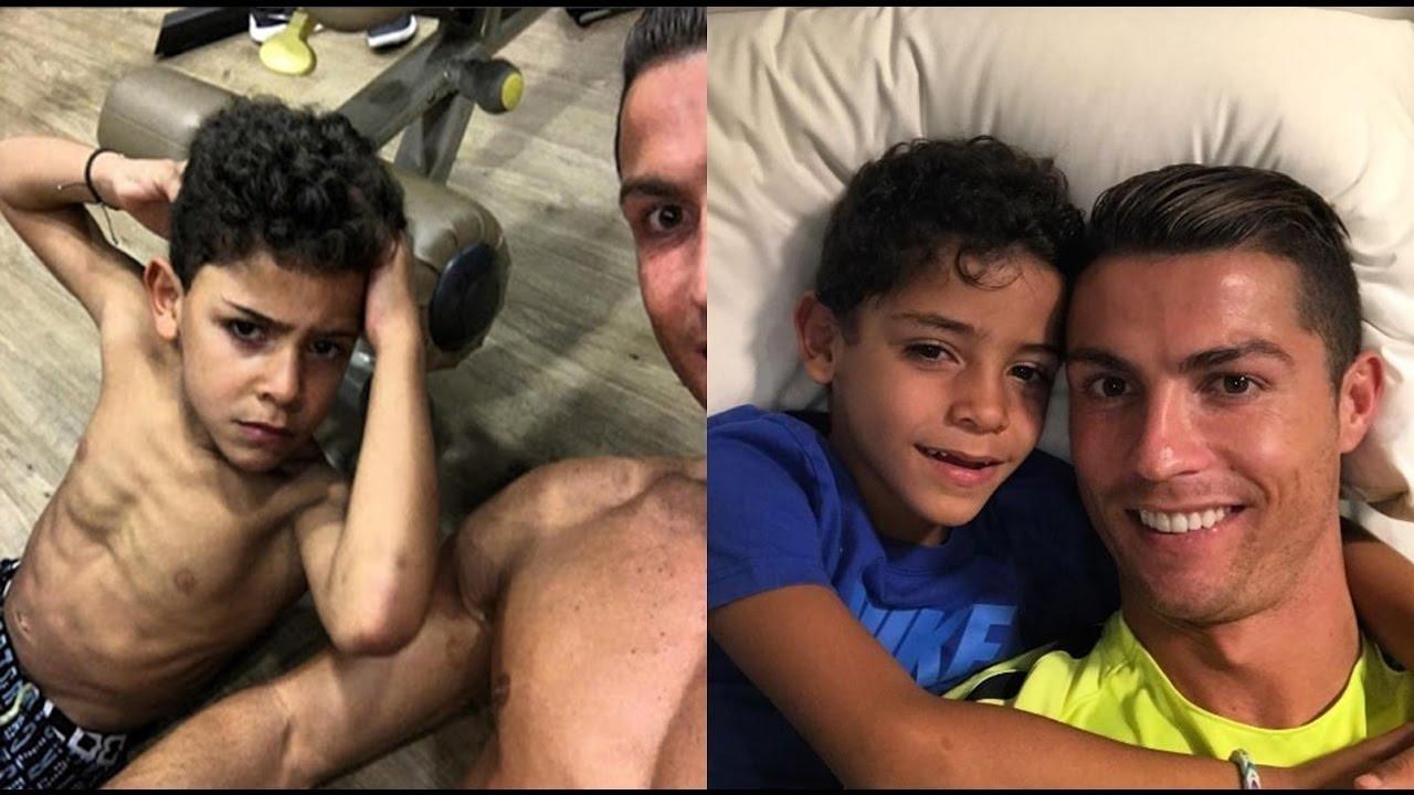 صورة كريستيانو رونالدو وابنه , صور مشوقة للاعب كرة معروف
