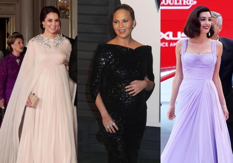 صور ازياء فساتين حوامل سهره , فستان رائع و مميز للسدة الحامل