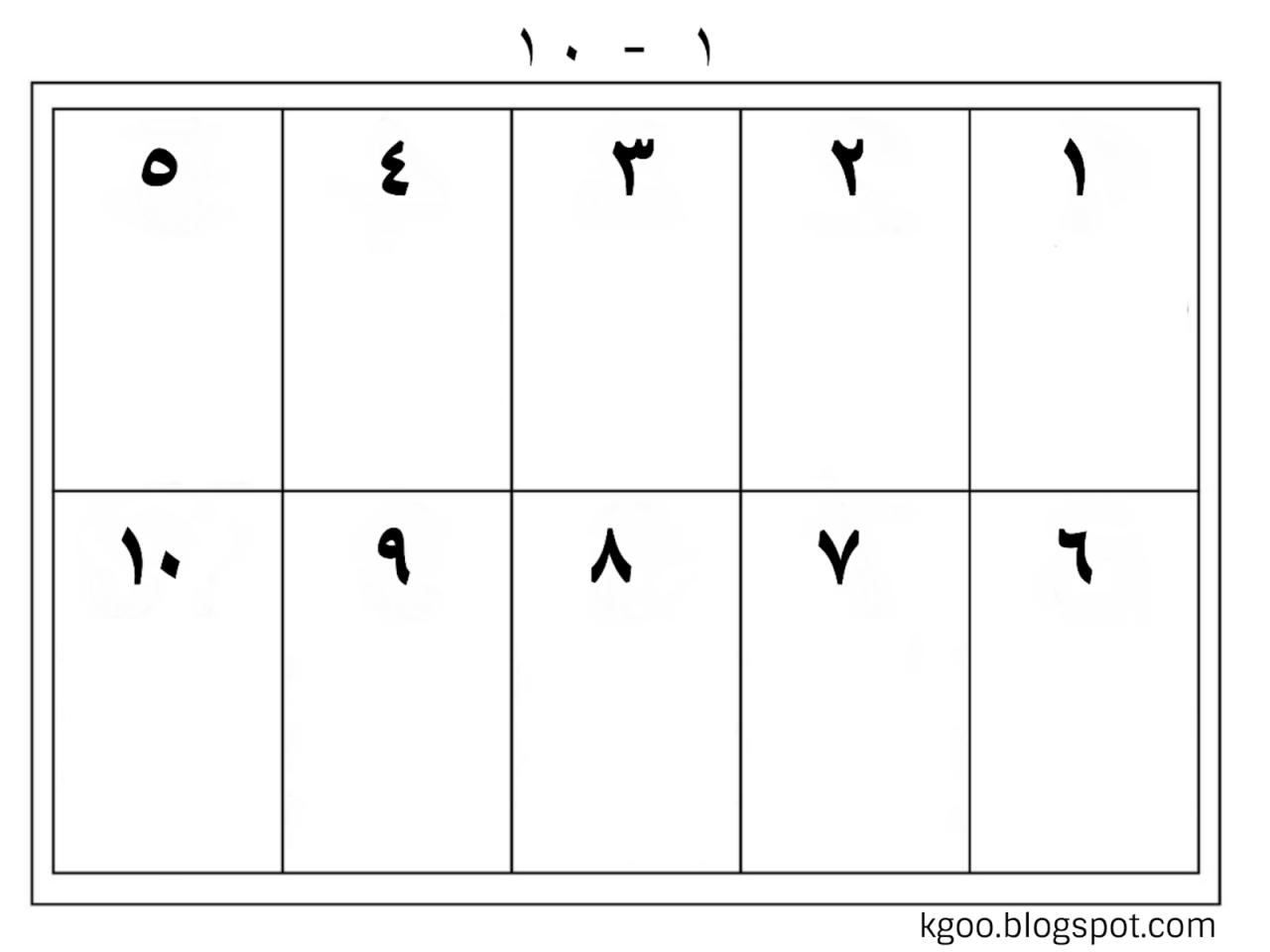 صورة الاعداد من 1 الى 10 , تعليم الاعداد للصغار