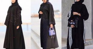 احدث موديلات العبايات الخليجية السوداء , تصاميم رائعه لافضل عبايات 2020