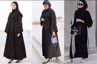 صورة احدث موديلات العبايات الخليجية السوداء , تصاميم رائعه لافضل عبايات 2020