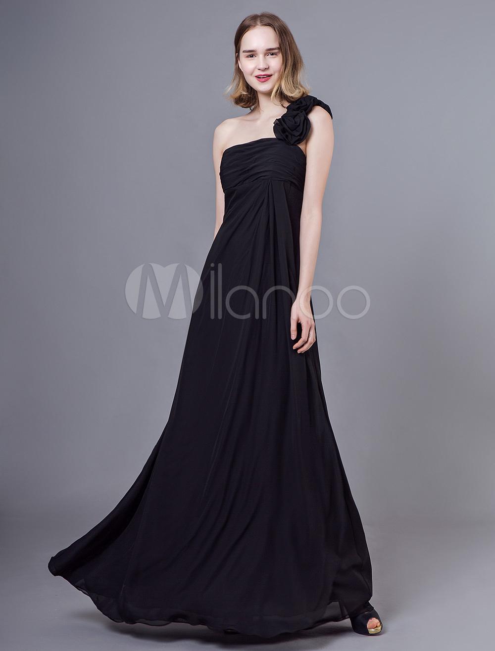 صور فستان طويل اسود , صور فساتين طويله باللون الاسود