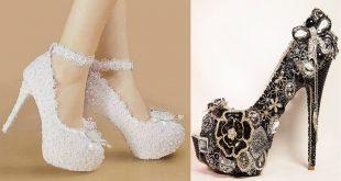 احذية عروس 2020 , احدث احذيه للعرايس لهذا العام