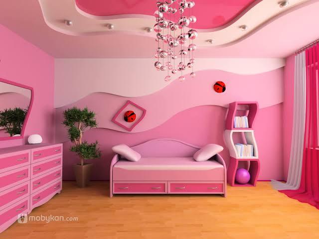 صورة الوان غرف نوم اطفال بنات , الديكورات في غرف النوم للبنات