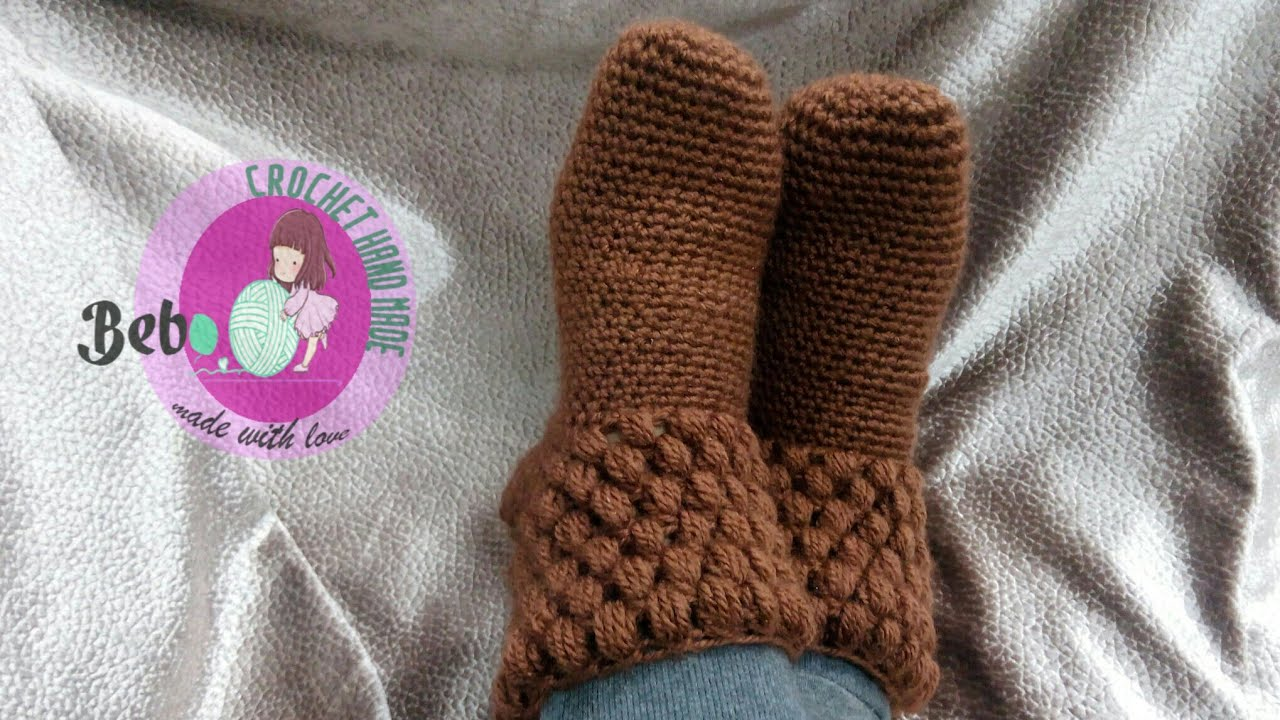 صور طريقة عمل جوارب كروشيه بالصور , كيف تمحي قدمك من البرد