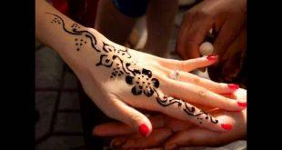 صورة رسم حنه على اليد بسيطه , صور بعض من النساء التي يحبوا وضع الحنه على اليد